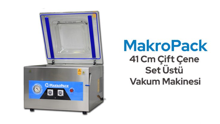 Makropack 41 Cm Çift Çene Set Üstü Vakum Makinesi
