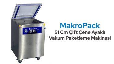Makropack 51 Cm Çift Çene Ayaklı Vakum Makinesi